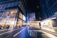 市中心繁华商圈夜景图片