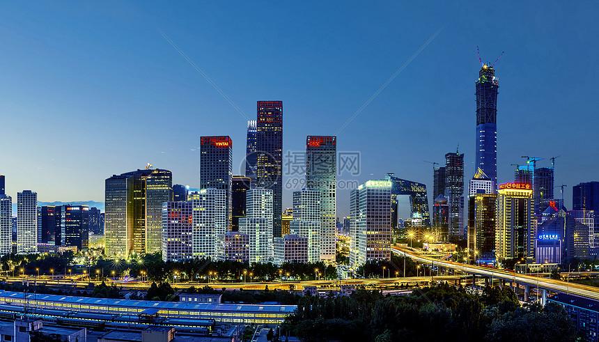 国贸城市夜景图片