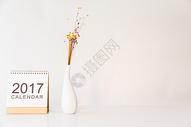 文艺新年日历拍摄图片