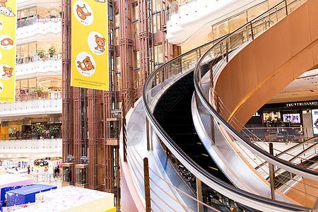 高档商场旋转设计电梯图片