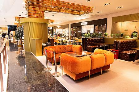 商场咖啡馆店铺场景设计图片