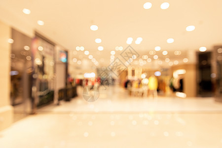 城市商场购物场景虚化图片