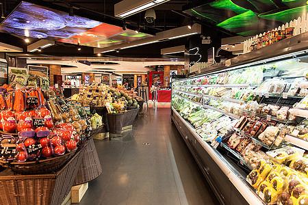 高档超市水果蔬菜展示图片