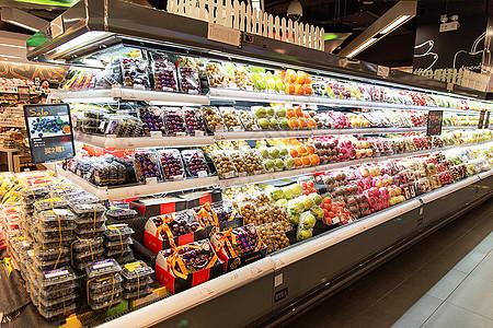 高档超市水果摊位展示 图片