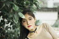 日系少女人像摄影图片
