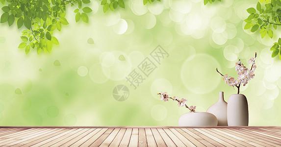 清新木纹背景图片