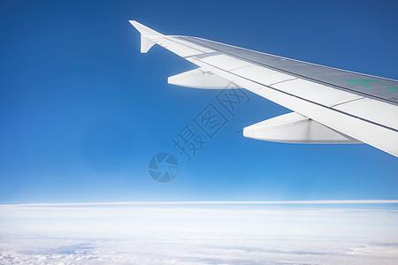 空中机翼天空背景图片