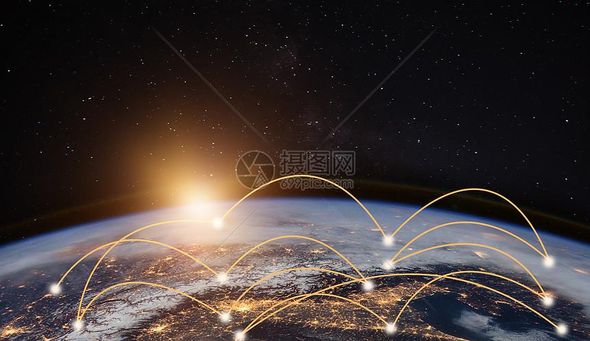 大数据照亮地球图片