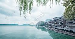 古镇中国风背景图片
