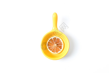 黄色柠檬片图片