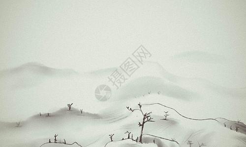 手绘风景画图片