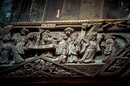 人物雕刻木头雕刻图片