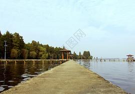 东湖亭桥图片