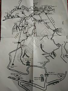 黄山风景区路线图图片