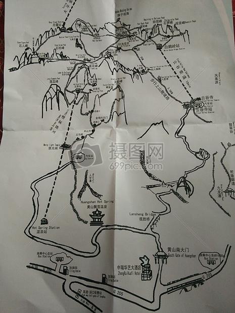 黄山风景区路线图