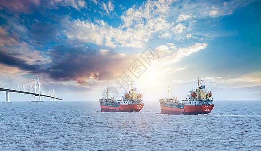 物流和运输的集装箱货船图片