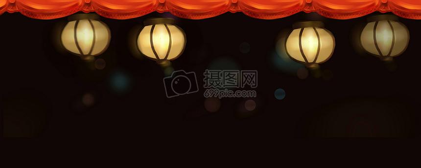 中国风海报背景 灯笼图片