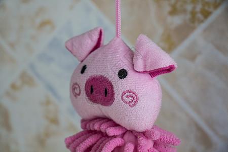 可爱粉色小猪擦手布图片
