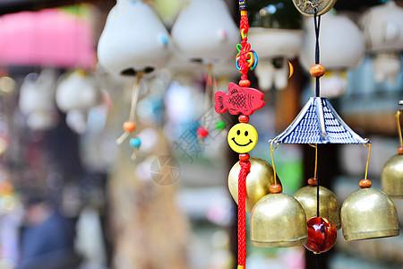 微笑风铃挂件图片