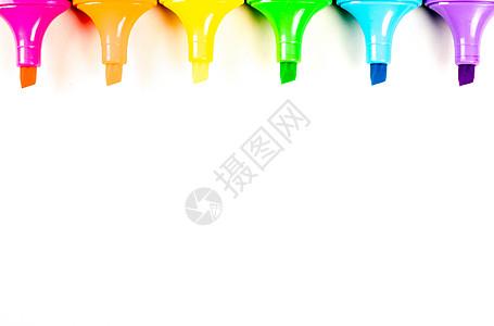 水彩笔彩铅创意摆拍图片