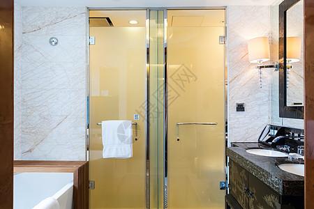 豪华酒店浴室局部特写图片