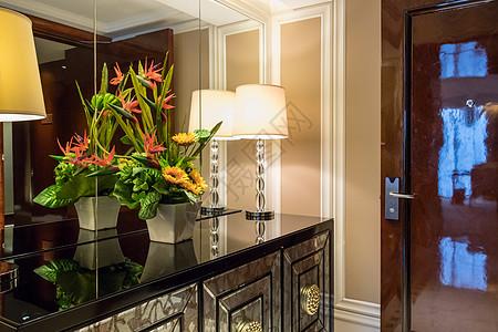 酒店套房走廊环境图片