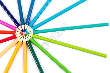 彩色铅笔创意摆拍图片
