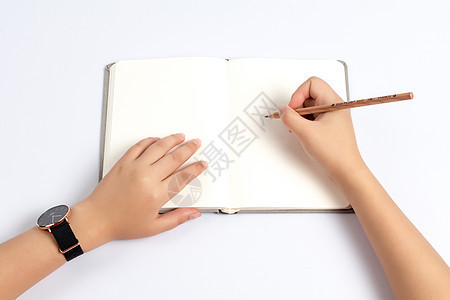 空白本写作场景图片
