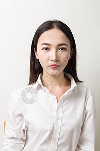 标准职业女生妆面照图片