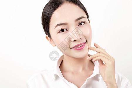 棚拍知性女人简单妆面图片