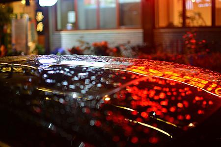 雨后的夜色迷离图片