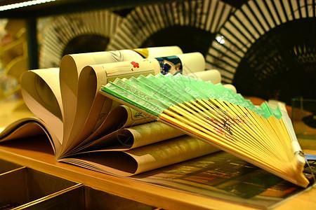 南锣鼓巷中国传统京折扇图片