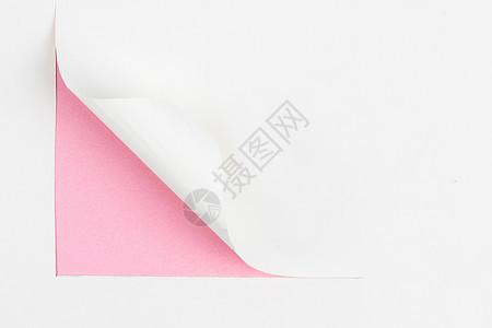 纸卷起的一角图片