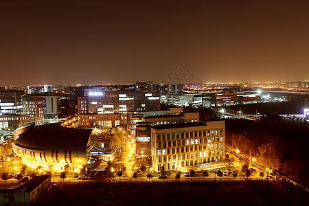 园区夜景图片