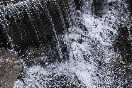 流清泉水瀑布图片