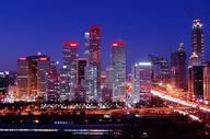 国贸夜景 北京夜景图片