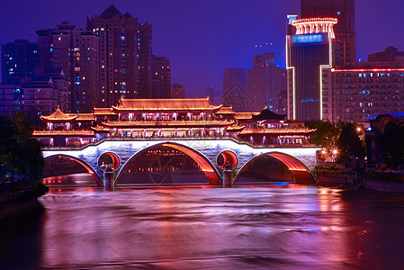 美丽的成都九眼桥夜景图片