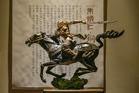 栩栩如生的关羽铜雕图片
