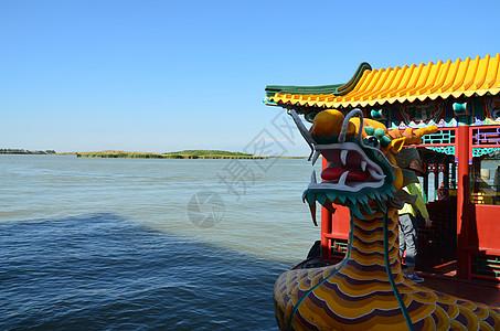 沙湖龙舟图片
