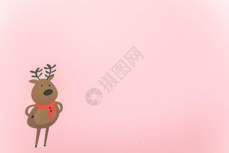 圣诞背景可爱的麋鹿图片