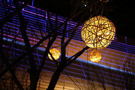 万达广场圣诞灯笼装饰图片