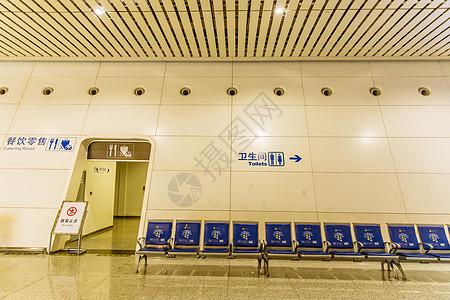 杭州东站的排椅图片