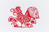 新春工艺寓意鸡年剪纸图片