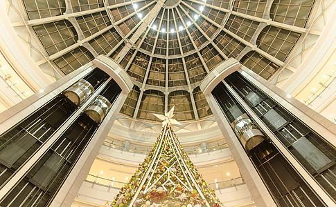 商场大气设计装饰圣诞树图片