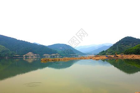 山水湖图片