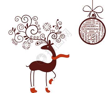 圣诞 圣诞节 海报 购物 梅花鹿图片