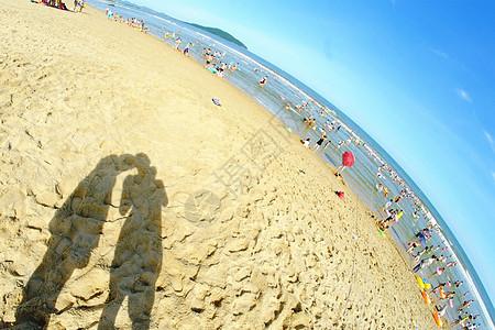 暖意海滩图片