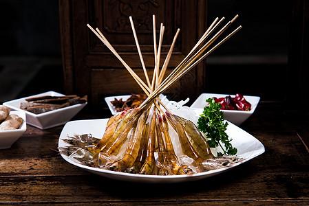 火锅菜品虾图片