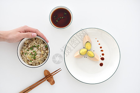 卤蛋炒米饭家常菜图片