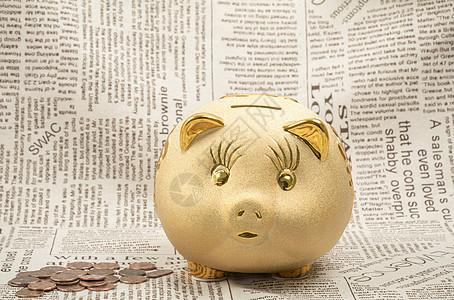 金币和金猪存钱罐储蓄罐图片